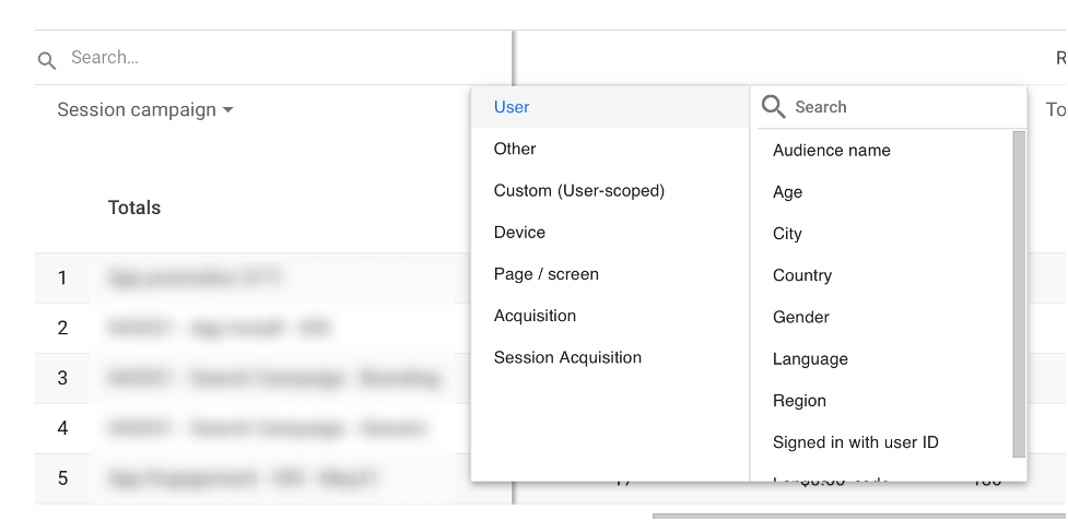 google analytics overview acquisition dimensions